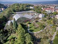 Aerial view of the Botanical Garden of Teplice.