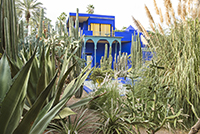 View of the Berber museum from the Majorelle Garden